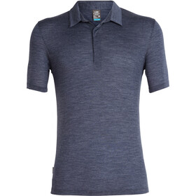 Icebreaker Solace Polo Manga Corta Hombre, midnight navy heather